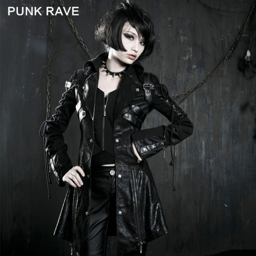 PUNK RAVE Gothic pu Leather Motorcycle  Women Jacket Y-349
