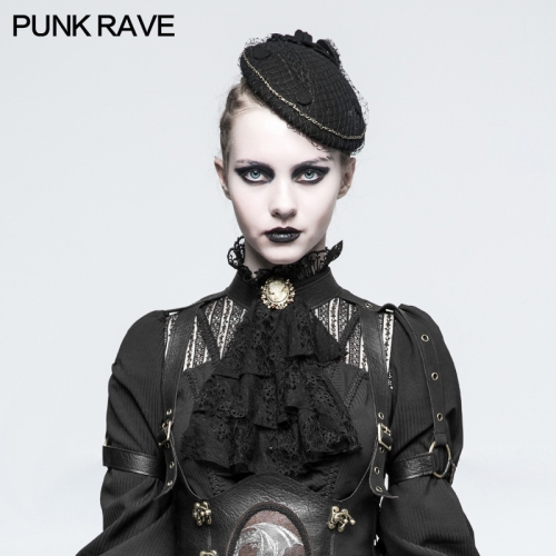 PUNK RAVE Steampunk Removable Dual-use Lace Girls Necktie S-225