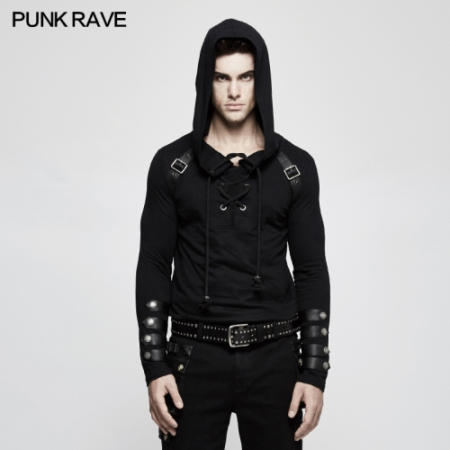 Punk Rave  men slim fit pullover hoodies T-483