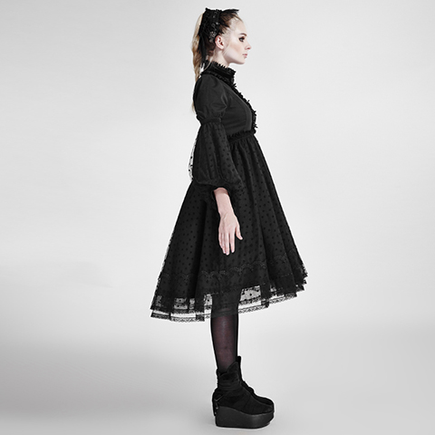 Punk Rave Lolita Multiple Lace Bow Lady Dress LQ-076