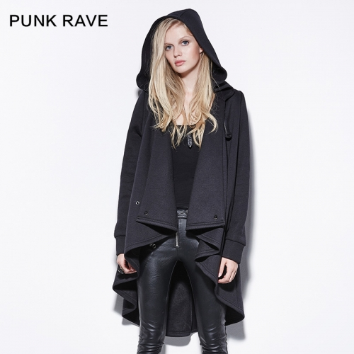 Punk Rave  Irregular Cloak Style Long Jacket PY-163