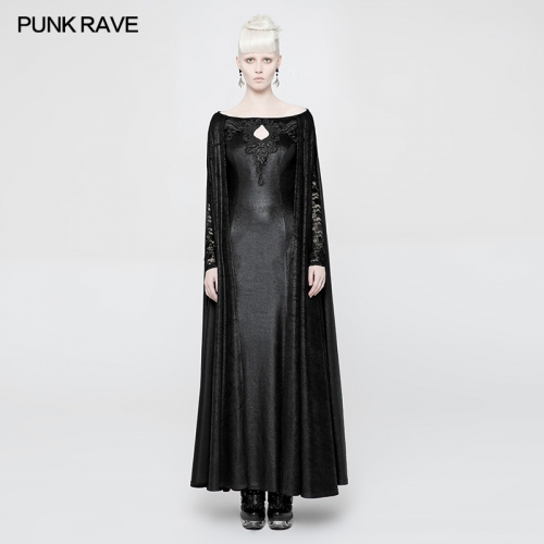 PUNK RAVE  Domineering Gothic  Cape Dress WQ-363