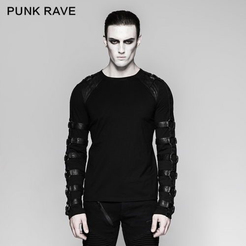 PUNK RAVE  Cotton Inner Heavy Metal Long Sleeve T-shirt T-457