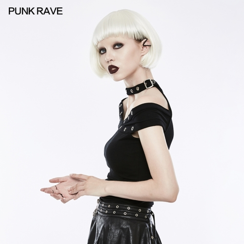 PUNK RAVE  strapless women slimming  T-shirts OPT-159
