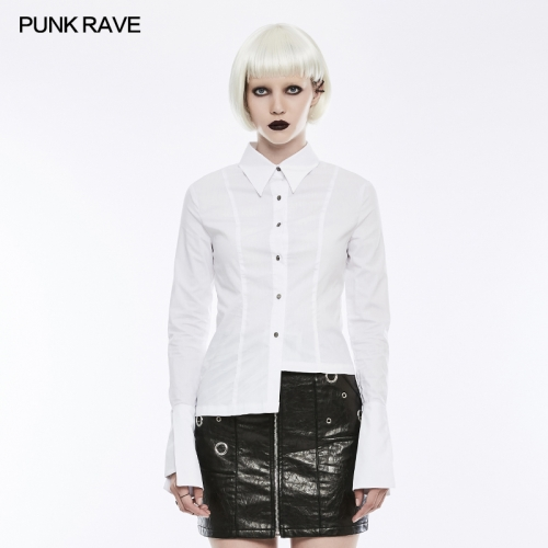 PUNK RAVE  asymmetric slim ladies blouse OPY-244