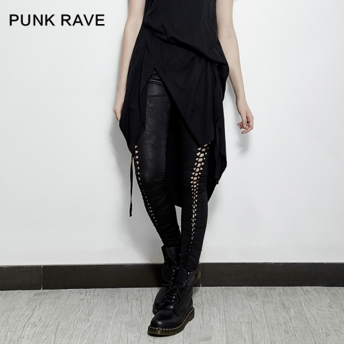 PUNK RAVE  hollow-out black sexy leggings PK-096