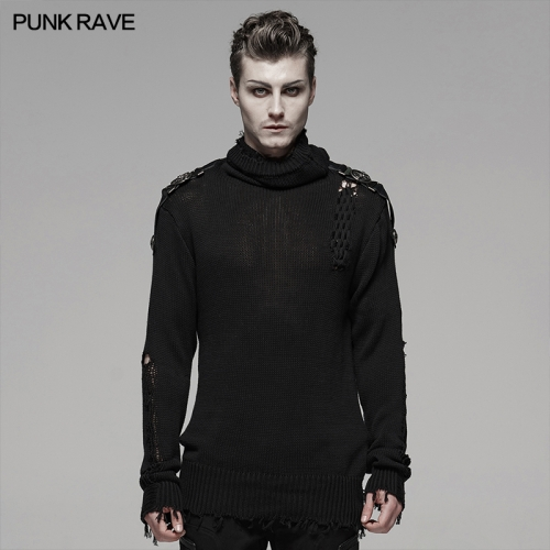 PUNK RAVE men military sweater WM-053TMM