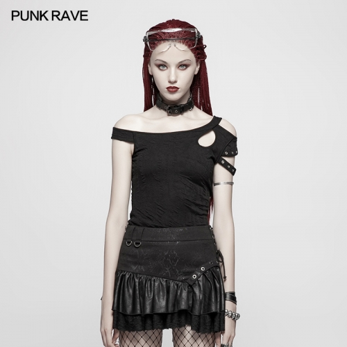 PUNK RAVE women short t-shirt OT-548TDF