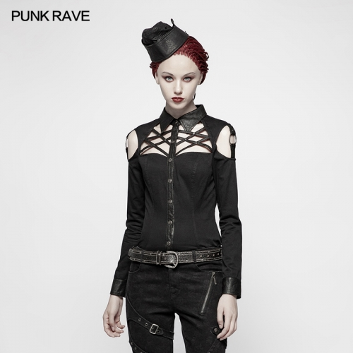 PUNK RAVE women long blouse WY-979CCF