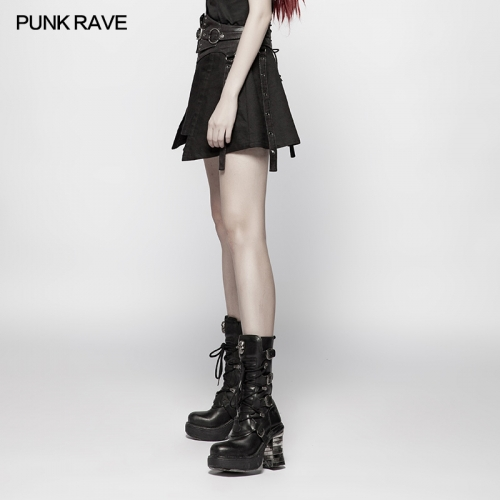 PUNK RAVE women short skirt WQ-392BQF