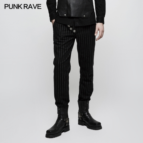 PUNK RAVE Military Uniform Leisure Men's Trousers K-303
