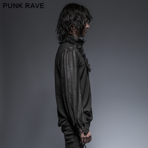 PUNK RAVE Gothic Spring Christmas Plate Buttons Attractive Man Longsleeves Shirts Y-639