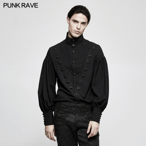 PUNK RAVE Gothic Gorgeous Disc Floret Long Sleeve Shirt Y-804