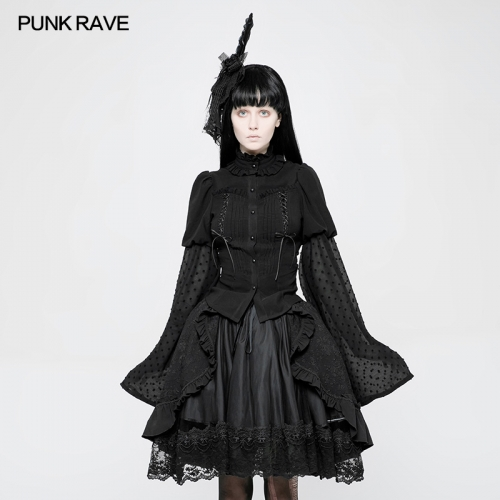 PUNK RAVE Lolita Trumpet Sleeve Shirt for woman WLY-075CCF
