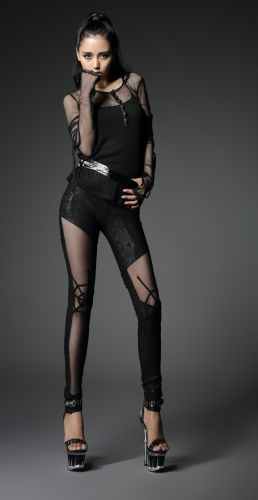 PUNK RAVE hot sale tight pants with sexy spider web K-161