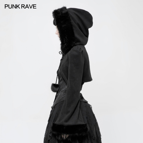 PUNK RAVE Lolita Imitation Rabbit Hair Short Coat WLY-079EDF