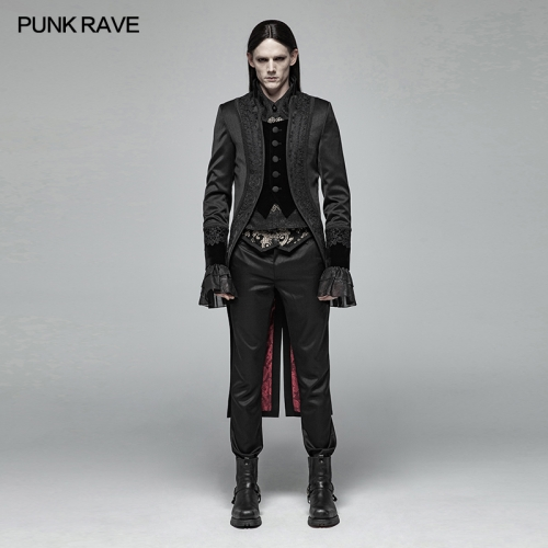 PUNK RAVE Gorgeous Gothic Swallow Tail Coat WY-1007LCM