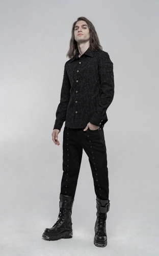 Elastic Jacquard Punk Long Sleeve Shirt WY-1225CCM